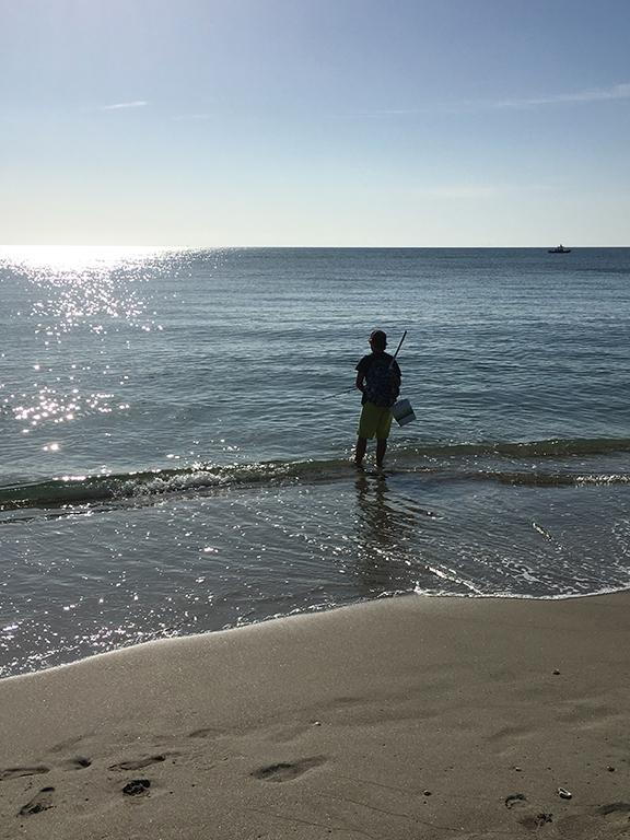 Fishing on Bathtub Beach