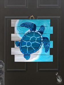 Coastal Series - Mosaic Turtle Pallet