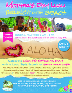 Mother's Day Luau Brunch on the Beach