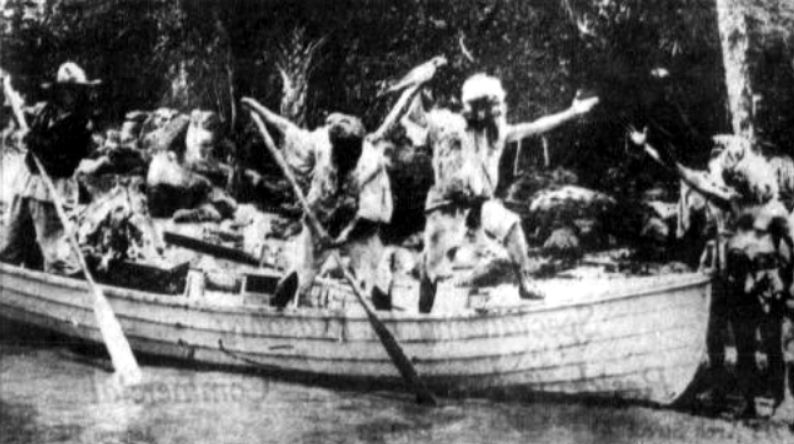 "A scene from the 1916 movie ""Robinson Crusoe"" shot in Stuart."