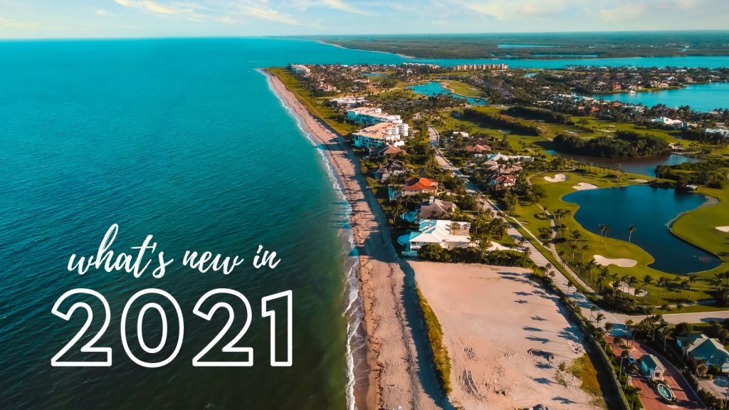 What's New in 2021 Blog Header Image of Hutchinson Island Beach