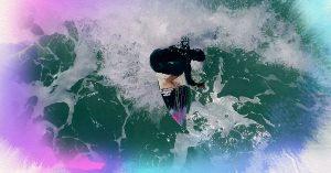 Surfing - overhead shot