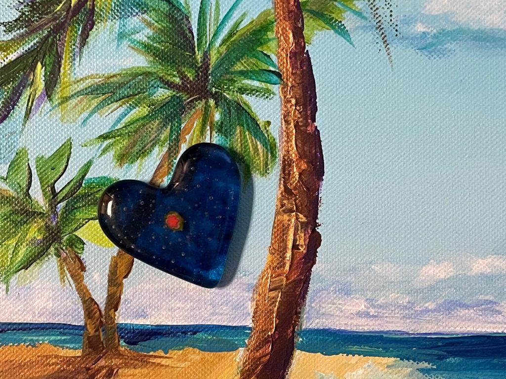 Blue Heart Sculpture